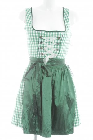 MarJo Dirndl green-white check pattern country style
