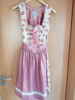 MarJo Vestido Dirndl crema-rosa claro