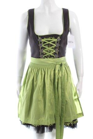 MarJo Dirndl schwarz-hellgrün Blumenmuster klassischer Stil