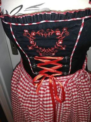 MARJO Dirndl schwarz-rot-weiß Gr. 36