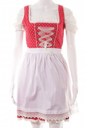 MarJo Dirndl weiß-rot schlichter Stil