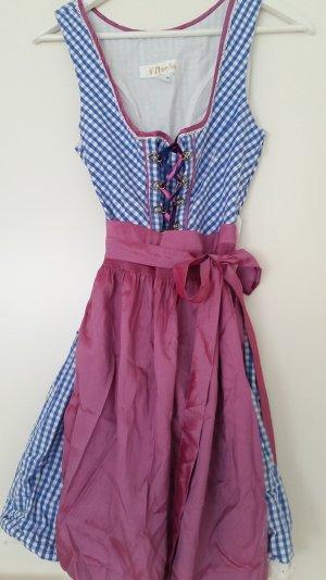 MarJo Mini-Dirndl Gr. 38 - Pink & Blau