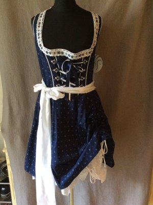 MarJo Traditional Dress white-dark blue