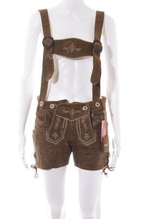 MarJo Pantalon traditionnel en cuir moucheté style classique