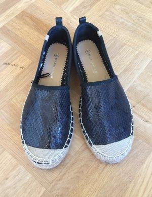 Mark Adam espadrilles Schuhe gr. 39 schwarz Blogger