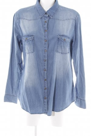 Mark Adam Jeanshemd blau Punktemuster Casual-Look
