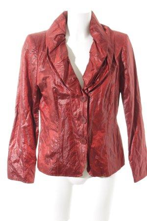 Mark Adam Blazer court rouge foncé style mouillé