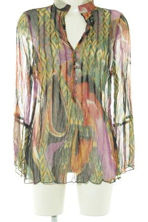 Mark Adam Langarm-Bluse abstraktes Muster Casual-Look