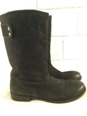 Mark Adam New York schwarz Lederschuhe Boots Größe 41 Frühling Frühjahrsschuhe Stiefel Stiefelette