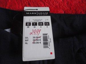 Mark Adam NY Hose Paperbag Gürtel-Band Navy Blau Gr. 38 Neu mit Etikett!