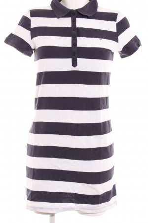 Mark Adam Polo Dress white-dark blue striped pattern athletic style