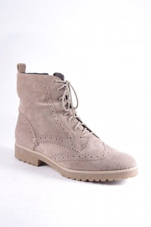 Mark Adam Schnür-Stiefeletten beige Brit-Look