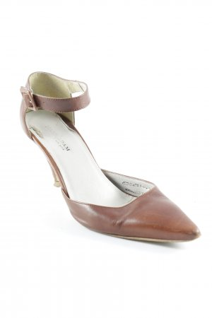 Mark Adam Spitz-Pumps cognac schlichter Stil