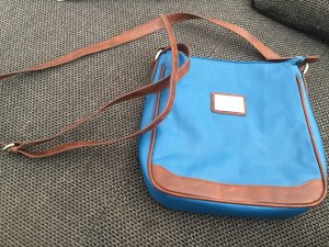 Mark Adam, Tasche, neu, blau/braun