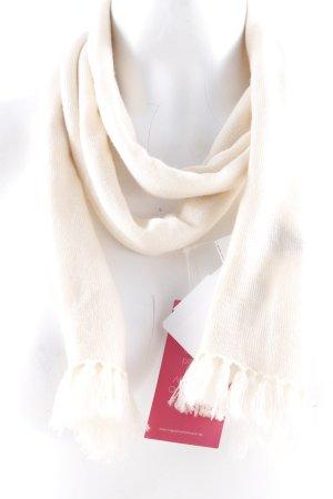 Mark Adam Sciarpa di lana crema stile casual