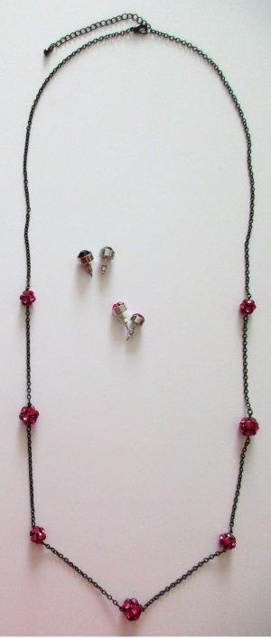 Marke beeline - lange Halskette Ohrstecker Kette Ohrschmuck