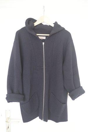 Marke: Classic Knitting - Oversize Strickjacke/mantel in blau aus Merino