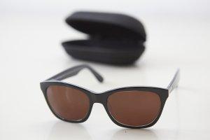 Occhiale nero-blu scuro Materiale sintetico