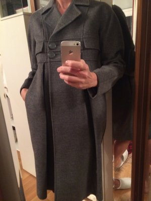 Stefanel Heavy Pea Coat grey new wool