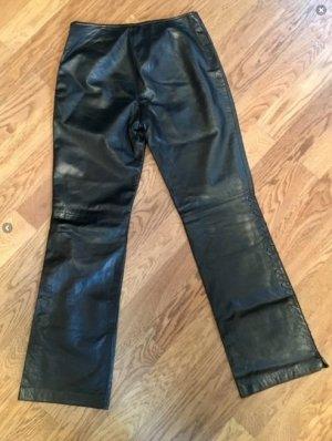 Marken-Lederhose mit Schlag, Vintage-Look