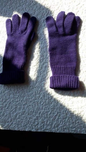 Guantes violeta oscuro