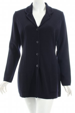 Marks and Spencer Strickjacke dunkelblau schlichter Stil