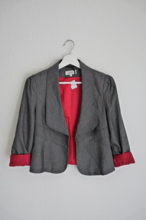Marks & Spencer Blazer Jacke S M 38 *NEU* grau meliert pink Business Look Fashion Style Blogger