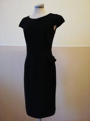 Marks&Spencer Etuikleid schwarz kurzarm Kleid Gr. UK 8 S 36