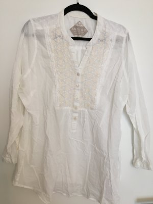 Marks and Spencer Blusa a tunica bianco sporco-crema Cotone