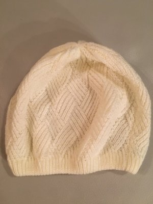 Marks and Spencer Beret cream-natural white polyacrylic