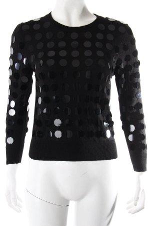 Markus Lupfer Pullover schwarz mit Pailletten