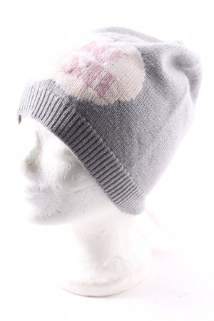 Markus Lupfer Knitted Hat embroidered lettering casual look
