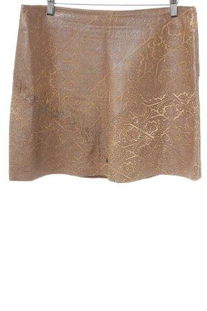 Marlboro Falda de cuero marrón look Street-Style