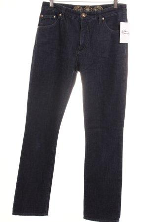 Marlboro Straight-Leg Jeans blau Casual-Look