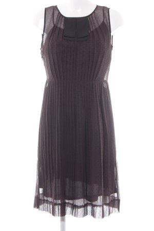 Marlene Birger Vestido de cóctel lila grisáceo-negro estampado a lunares