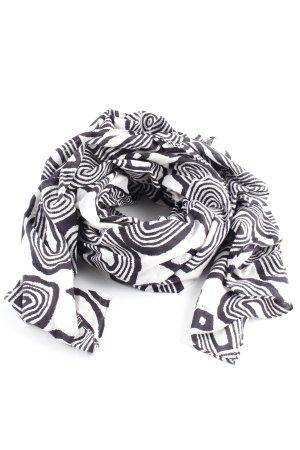 Marlene Birger Neckerchief white-black abstract pattern casual look