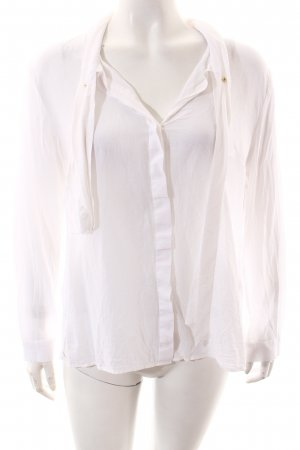 Marlene Birger Blusa de manga larga blanco look casual