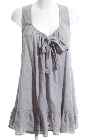 Marlene Birger Mini vestido gris claro estampado a lunares look Street-Style
