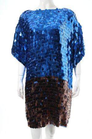 Marlene Birger Pailettenkleid schwarz-blau Paillettenverzierung