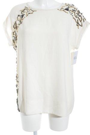 Marlene Birger T-Shirt creme Nietenelemente