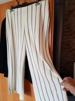 Pantalone Marlene bianco sporco-blu scuro
