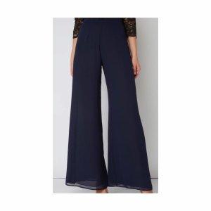 Swing Pantalón anchos azul oscuro Poliéster