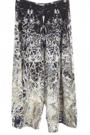 Marlene Trousers dark blue-light grey abstract pattern casual look