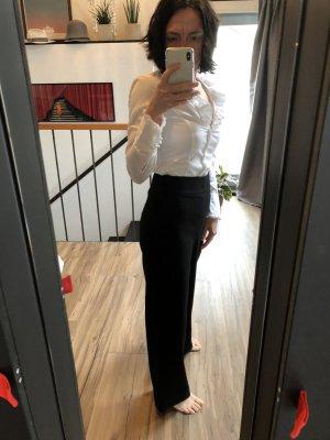 Marlenehose, high waist in schwarz