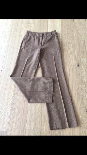 Hallhuber Pantalon à pinces brun