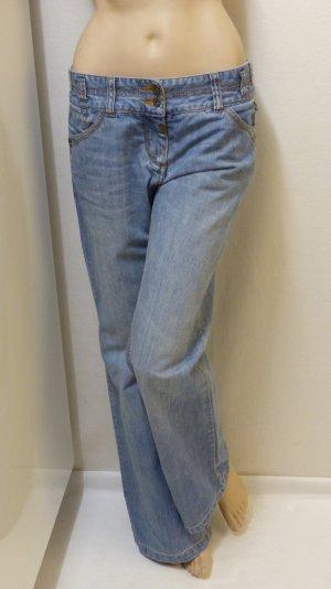 Timezone Jeans taille basse bleu pâle-bleu azur coton