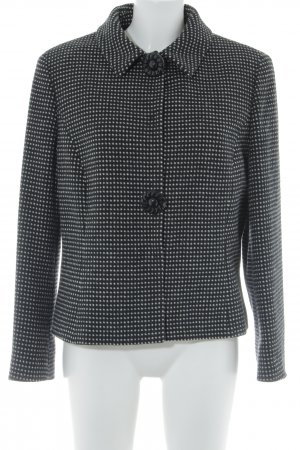 Marly's Short Coat black-cream spot pattern elegant