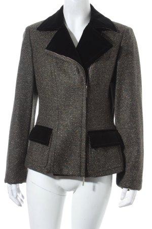 Marly's Wolljacke schwarz-khaki Retro-Look