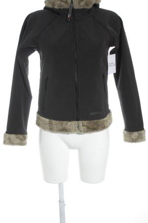 Marmot Kurzjacke schwarz-hellbraun Kuschel-Optik