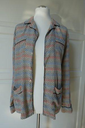 MARNI at H&M Bluse bzw. Hemd im Pyjama-Stil, aus Seide, mit süßem Print, in Gr. EUR 42 !